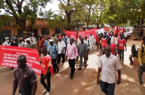Journée nationale de protestation: Bobo a marché pour l'amélioration des services à l'hôpital Souro Sanou