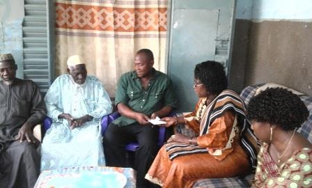 Soutien aux victimes de l'Insurrection populaire: La famille de Saidou Sawadogo a reçu les condoléances du gouvernement