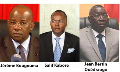 Le point des arrestations des dignitaires du régime Compaoré: Jérôme Bougouma, Jean Bertin Ouédraogo et Rasmané Ouédraogo libérés