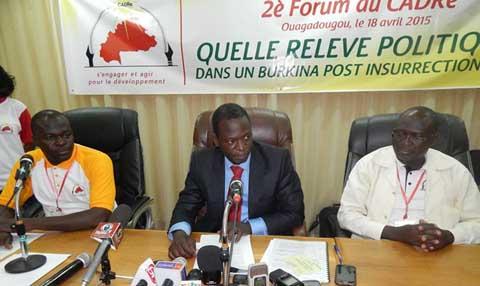 Burkina Faso post insurrection: Le CADRe pour une alternance générationnelle et idéologique