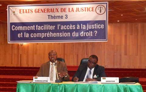 Mise en oeuvre du Pacte national pour le renouveau de la Justice: le Ministère demande l'adhésion de toutes les composantes de la société