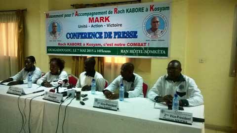 MARK: Pour accompagner Roch Marc Christian Kaboré à Kosyam