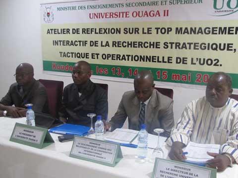 L'Université Ouaga 2 veut se doter d'un outil de pilotage de la recherche