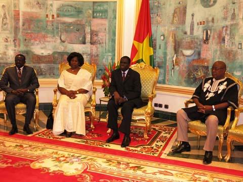 Kosyam: Le président du Faso reçoit Mariam Sankara