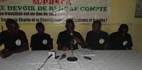 Sit in du 5 juin des OSC: Le M/PRSCA pour une manifestation pacifique