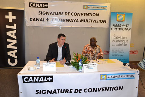 Signature de convention : Canal + et Neerwaya Multivision enfin unis