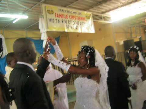 Union matrimoniale: 100 couples ont dit oui devant Dieu et les hommes