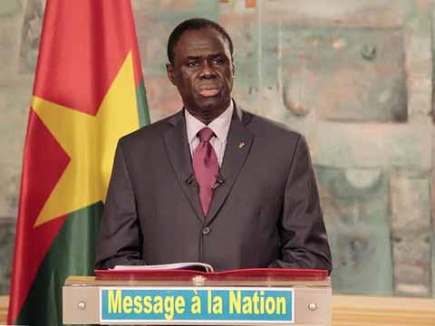 Situation  nationale: Les grandes décisions de Michel Kafando