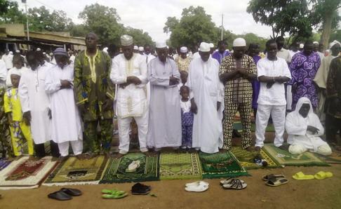 Ramadan à Gaoua: Les fidèles musulmans ont prié pour la paix au Burkina Faso