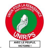 Législatives 2015: directive de L'UNIR PS relative aux actes de candidatures