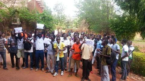 Centre Universitaire Polytechnique de Ouahigouya: Les étudiants ont manifesté pour demander de meilleures conditions de vie et d'étude