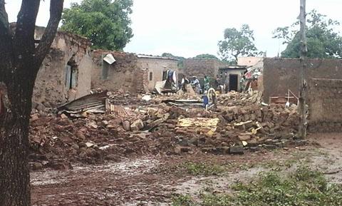 Inondation à Bama: Des vivres, des animaux et des maisons emportés par les eaux de pluies