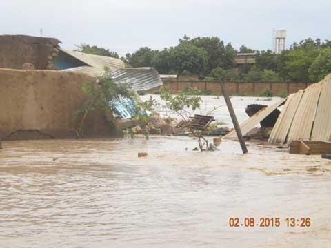 Pluie du Dimanche 02 Août 2015: D'importants dégâts matériels à Bissighin