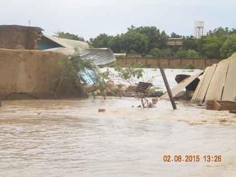 Inondation à Bissighin et Rimkiéta  Le mois d'août sera pluvieux, et le gouvernement appelle à la vigilance