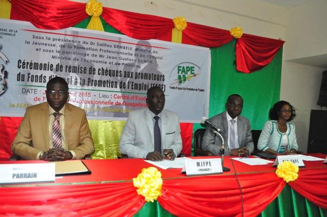 Fonds d'appui à la promotion de l'emploi: 257 100 000 F CFA pour 112 promoteurs