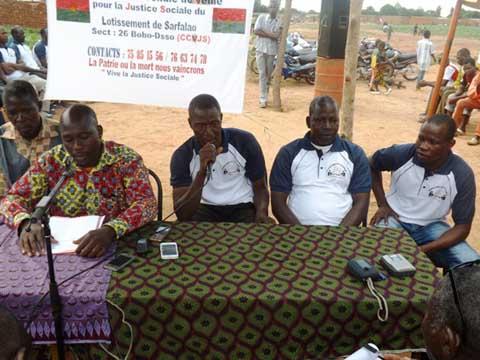 Bobo-Dioulasso: Le CCVJS exige la reprise des opérations de lotissement au secteur 26