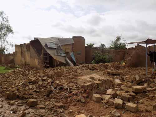 Vents violents à Nioko II: Deux blessés et des dégâts matériels