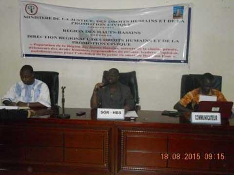 Bobo-Dioulasso: Des acteurs des droits humains plaident pour l'abolition de la peine de mort