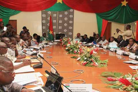 Le Conseil des ministres de ce mercredi 02 Septembre 2015 se tient à Fada N'Gourma