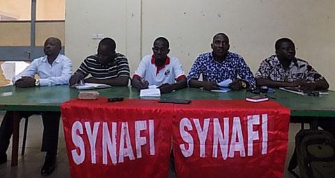 Sit-in du SYNAFI: Une vingtaine d'arrestations