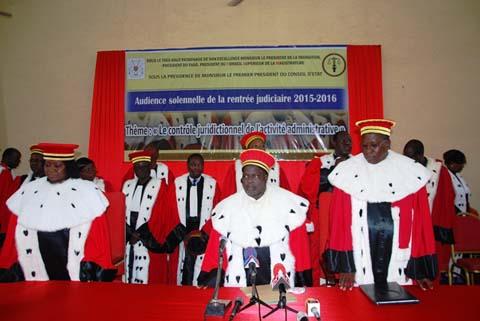 Rentrée judiciaire 2015-2016: le contrôle de l'activité administrative au cœur des débats