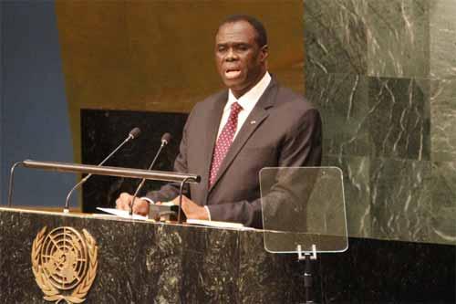 Michel Kafando à la tribune de  l'ONU:
