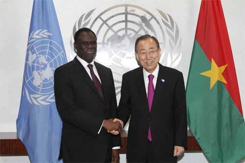 Michel Kafando reçu par Ban Ki-moon
