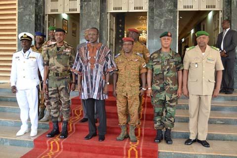 Premier ministère: Yacouba Isaac Zida a reçu les chefs d'état-major des pays membres de la CEDEAO