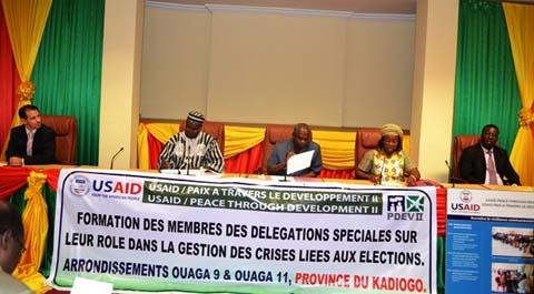 Crises liées aux élections: Le Projet PDEV- II préfère prévenir que guérir