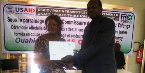Insertion socioprofessionnelle des jeunes: Des kits pour des jeunes de Ouahigouya et de Gourcy