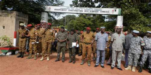 Bobo: Fin de formation militaire pour 118 pensionnaires du GIFA