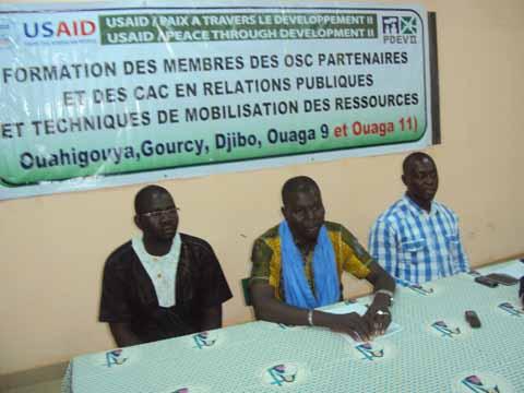Paix et Développement: 35 membres d'OSC et de CAC outillés par le PDEVII
