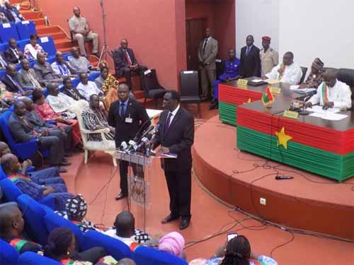 Discours du président du Faso au CNT: Michel Kafando réaffirme la légitimité du CNT