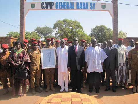 Baptême de casernes militaires: Baba Sy, Thomas Sankara, Nazi Boni…honorés
