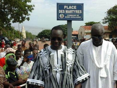 Bobo-Dioulasso: La place de la mairie baptisée Place des Martyrs