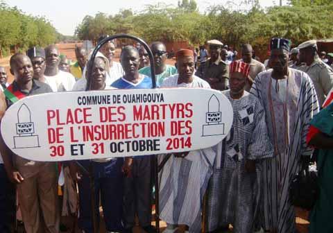 Commémoration de la Journée des martyrs: Les Ouahigouyalais ont rendu hommage aux victimes de l'insurrection