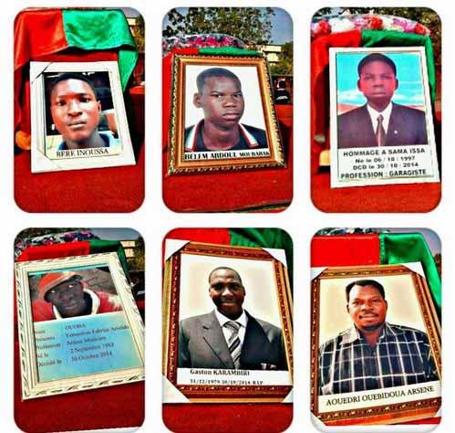 Soutien aux martyrs et aux blessés de l'Insurrection d'octobre 2014 et de la résistance populaire de septembre 2015: Les actions menées par le Gouvernement
