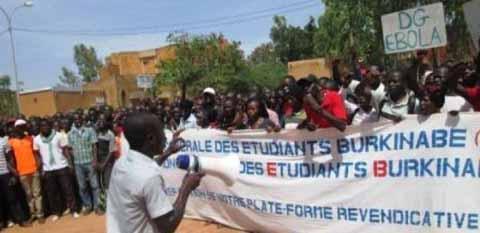 Université de Ouagadougou: Les étudiants ont marché sur leur ministère de tutelle