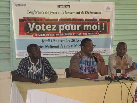 «Voter pour moi»: De l'humour pour des élections apaisées