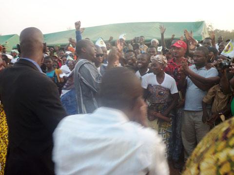 Meeting UPC à Gaoua: Zéphirin DIABRE  satisfait de la mobilisation