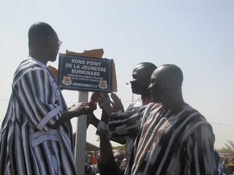 Le rond- point de Tampouy s'appelle désormais «Rond-point de la jeunesse burkinabè»