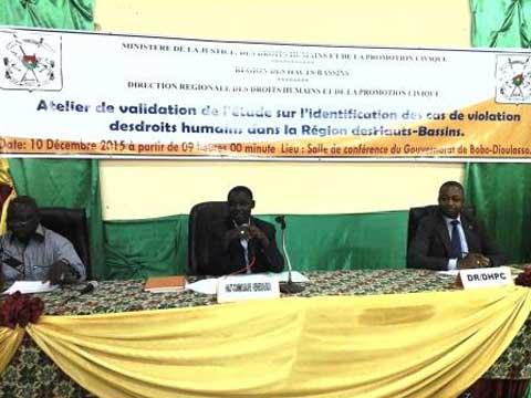Bobo-Dioulasso: Bientôt des données fiables sur les violations des droits humains