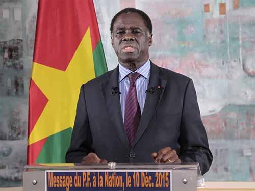 11-décembre: Michel Kafando salue le bilan positif de la Transition