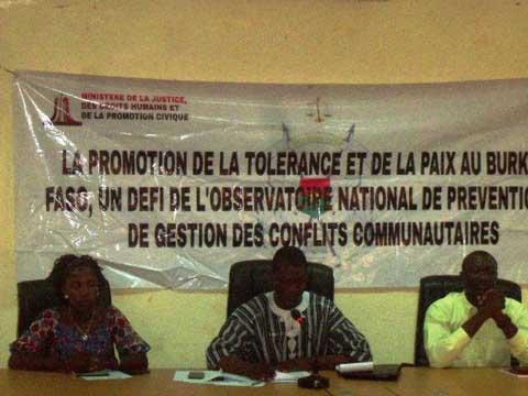 Prévention et gestion des conflits: Les membres des observatoires régionaux et provinciaux  du sud-ouest outillés