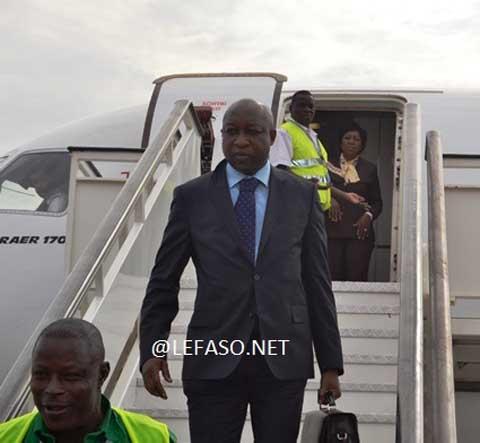 Premier ministère: Paul Kaba Thieba est arrivé à Ouagadougou