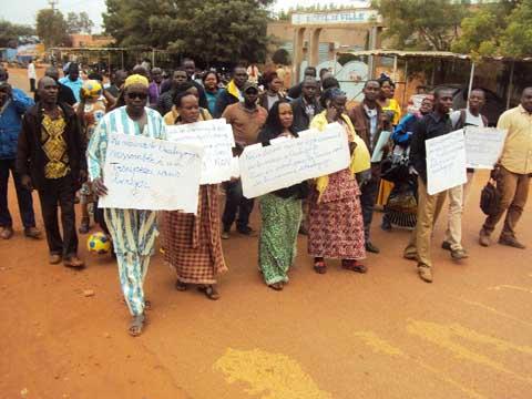 Sit-in à la mairie de Ouahigouya: Des agents manifestent contre le disfonctionnement des services municipaux