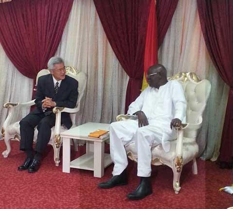 Audiences à l'Assemblée nationale: L'Ambassadeur du Japon au Burkina est allé parler coopération