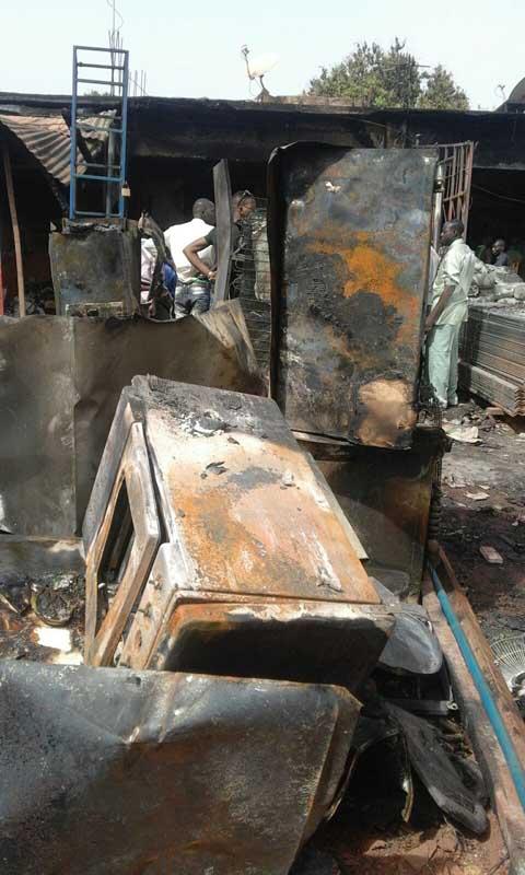 Grand marché de Bobo-Dioulasso: Un incendie fait des dégâts dans cinq magasins