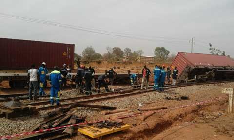 Bobo-Dioulasso: Deux wagons d'un train ont déraillé
