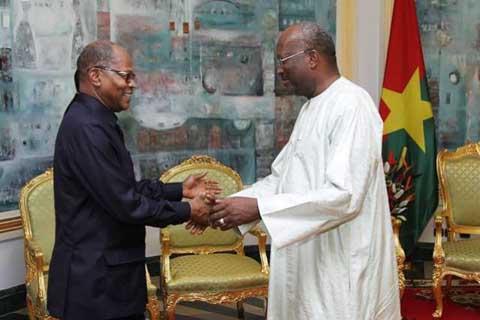 Présidence du Faso: Le représentant de Ban Ki-Moon chez Roch Kaboré